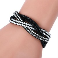 New Fashion 6 Layer Leather Bracelet for women in different colors