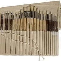 Art Advantage Oil and Acrylic Brush Set, 24-Piece