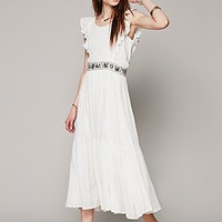 Carolina K Womens Miles on My Heart Dress - Ivory,