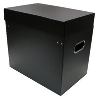 Room Essentials Black Table Top File Box