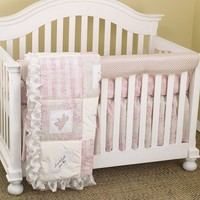 Cotton Tale 4-pc. Heaven Sent Crib Rail Cover Crib Set (Pink)
