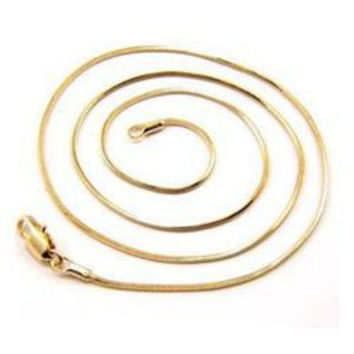 18K Gold Plated Chain Necklace For Men Women Snake Chain 18-26 inch DIY Long Chain SM6