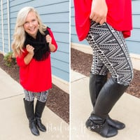 Vertical Triangle Leggings - One Size