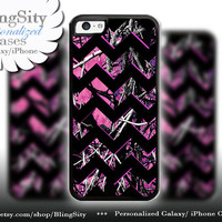 Camo Black Chevron iPhone 5C 6 6 Plus Case Hot Pink Purple Monogram iPhone 5s iPhone 4 Real Tree Personalized Country Inspired Girl