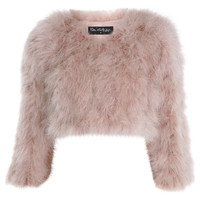 Feather Fur Bolero Jacket - Occasion Shop  - Clothing