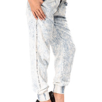 High Destruction Acid Washed Joggers