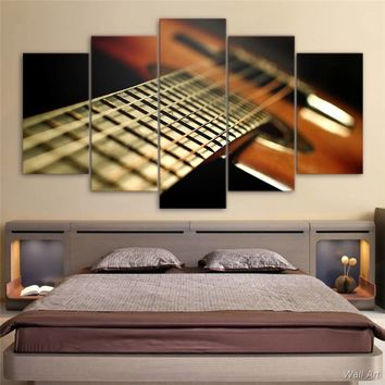 Hd Printed 5 Piece Canvas Art Guirar Music Instruments Painting Wall Pictures For Living Room Frames Free Shipping -92717-YP