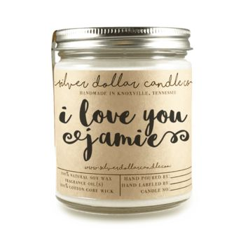 """I Love You"" - 8oz Scented Candle"