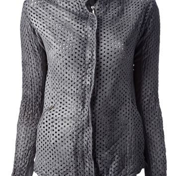 Giorgio Brato Perforated Leather Jacket
