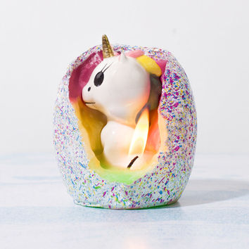 Hatching Unicorn Candle | FIREBOX\u00ae
