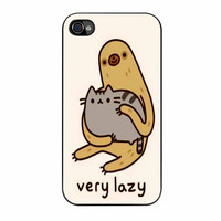 Pusheen Cat And Sloth iPhone 4s Case
