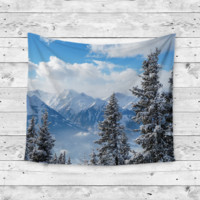 """Winter Wonderland"" Snow Wall Tapestry"