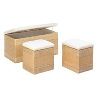 Nesting Trunks-Natural Woven 3 Piece Set