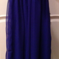 Long chiffon sequin strapless formal/prom dress
