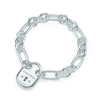 Tiffany & Co. - Tiffany Locks arc lock bracelet in sterling silver, medium.