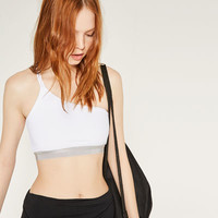 ASYMMETRIC TOP WITH DOUBLE STRAP