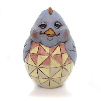 Jim Shore EASTER CHICK EGGS Polyresin Hand Painted Heartwood Creek 4056944 Blue