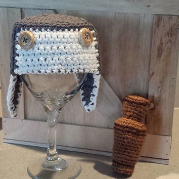 Crochet Amigurumi Duck Dynasty Inspired Duck Call  and Hat Photography Hunting Photo Prop