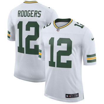 Men's Green Bay Packers Aaron Rodgers Nike White Classic Limited Player Jersey