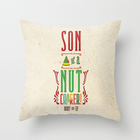 THROW PILLOW Buddy the Elf Quote - Son of a nutcracker! #nutcracker #buddytheelf #elf #buddy #christmas #holidays