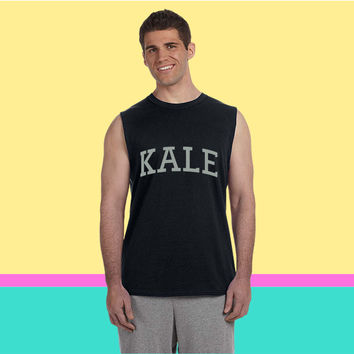 KALE VEGAN  VEGETARIAN Sleeveless T-shirt