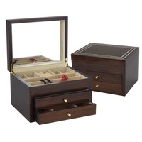 Reed & Barton Mother Of Pearl Jewelry Chest in High Gloss Cherry - 915CTS