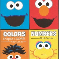 Sesame Street Flash Cards Set of 4 (ABCs, Beginning Words, Colors, Shapes & Opposites, Numbers 1-20)