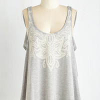 Boho Mid-length Sleeveless Praise for Paisley Top
