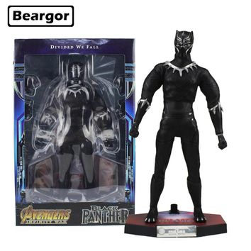 12 inch Marvel Super Hero Avengers Infinity War Black Panther Real Cloth Boxed 30cm PVC Anime Action Figure Model Doll Toys Gift