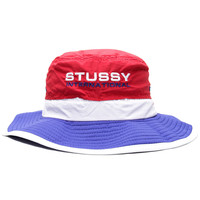 Stussy - 3-Tone Bucket Hat (Red/White/Blue)