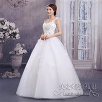 Salomon Wedding Dress Ball Gown Bridal Gown Floor-Length Sleeveless Sweetheart Organza Bridal Dress With Flowers Vestido De Noiva Size 2-12 WE329 = 1956808388