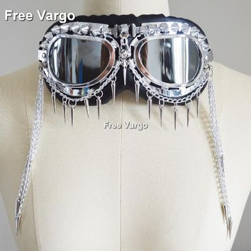 Aviator Spikes and Chains Flexible Goggles