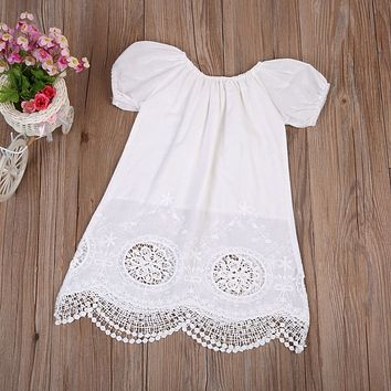 100% Organic PURE Cotton Embroidered Dress