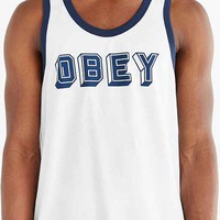 OBEY Champions Tank Top- Blue