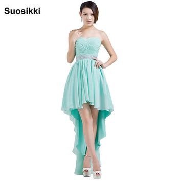 Suosikki High Low Women Evening Party Dresses Black Grace Sweetheart Formal prom gown robe de soiree