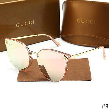 GUCCI 2018 new hollow large frame women's polarized sunglasses #3