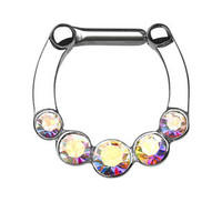 Five Gems Bar Septum Clicker