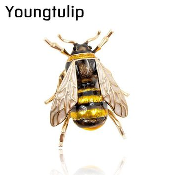 CINKILE Enamel Bee Brooches Unisex Insect Brooch Pin Women and Men Jewelry Cute Small Badges Fashion Jewelry Wholesale Price