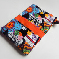 "iPad Cover / Sugar Skulls / iPad Air Case / Day of the Dead / Galaxy Tab Sleeve / 10"" Tablet Cover / iPad Case / i Pad Cover /  Tablet Case"