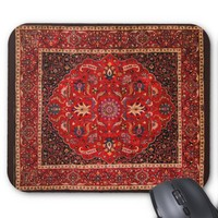 Antique Persian Mashhad Rug Mouse Pad