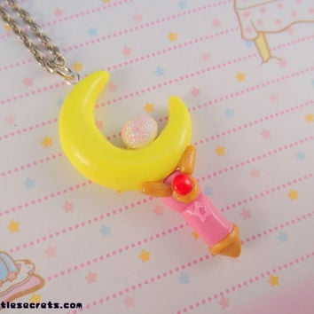 Sailor Moon Crescent Moon Wand Necklace