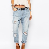 Only Lima Boyfriend Jeans with Distressing