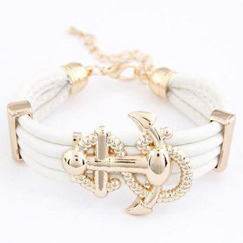 Royal Yacht Anchor Bracelet