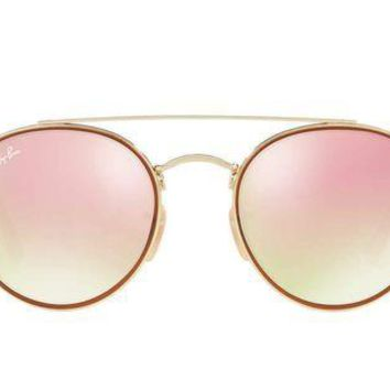 Gotopfashion Ray Ban RB3467N 001 70 Goldand Red Frame Gradient Pink 51mm Lens Sunglasses