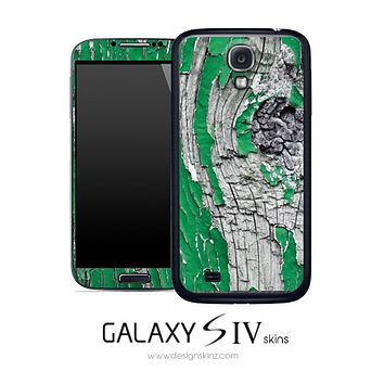 Green Paint Chip Skin for the Galaxy S4