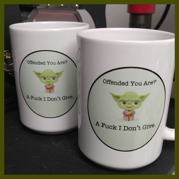 Offended, You Are Yoda Mug ~ FREE SHIPPING