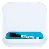 Five Star Locker Organizer, Combo Dry Erase Board and Storage Pocket, 7 x 7 Inches, White with Teal Pocket (72612)