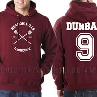 Liam Dunbar 9 CROSS Beacon Hills Lacrosse Teen Wolf Unisex Hoodie S to 3XL