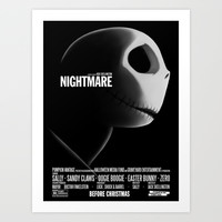 Nightmare Art Print by Crumblin' Cookie