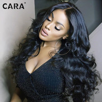 CARA 8A Full Lace Human Hair Wigs  250% Lace Front Wig Body Wave